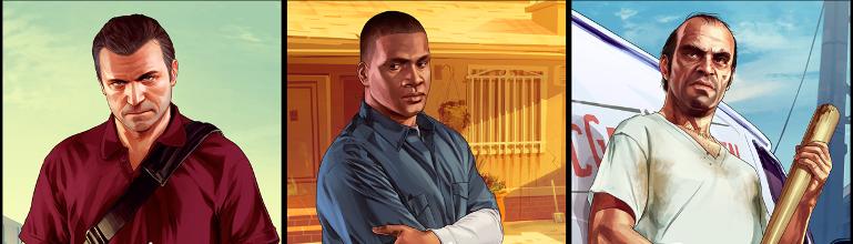 Grand Theft Auto V : Les artworks originaux de Michael, Franklin et Trevor dispo' !