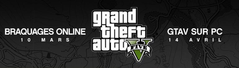 GTA V sur PC repoussé et les braquages le 10 mars !