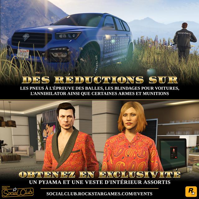 Bonus semaine 14 au 20 juin GTA Online