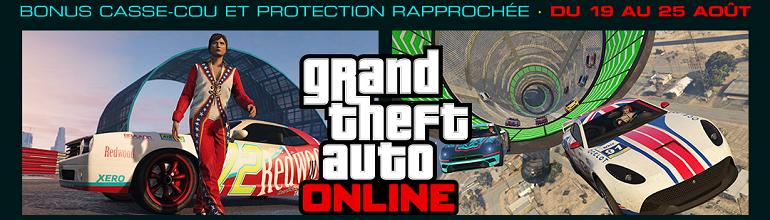 Nouvelle semaine spéciale sur GTA Online du 19 au 25 Août