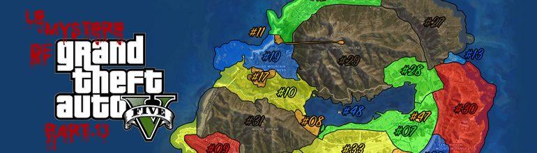 Mystère GTA V – MAP des 48 zones de Los Santos et Blaine County