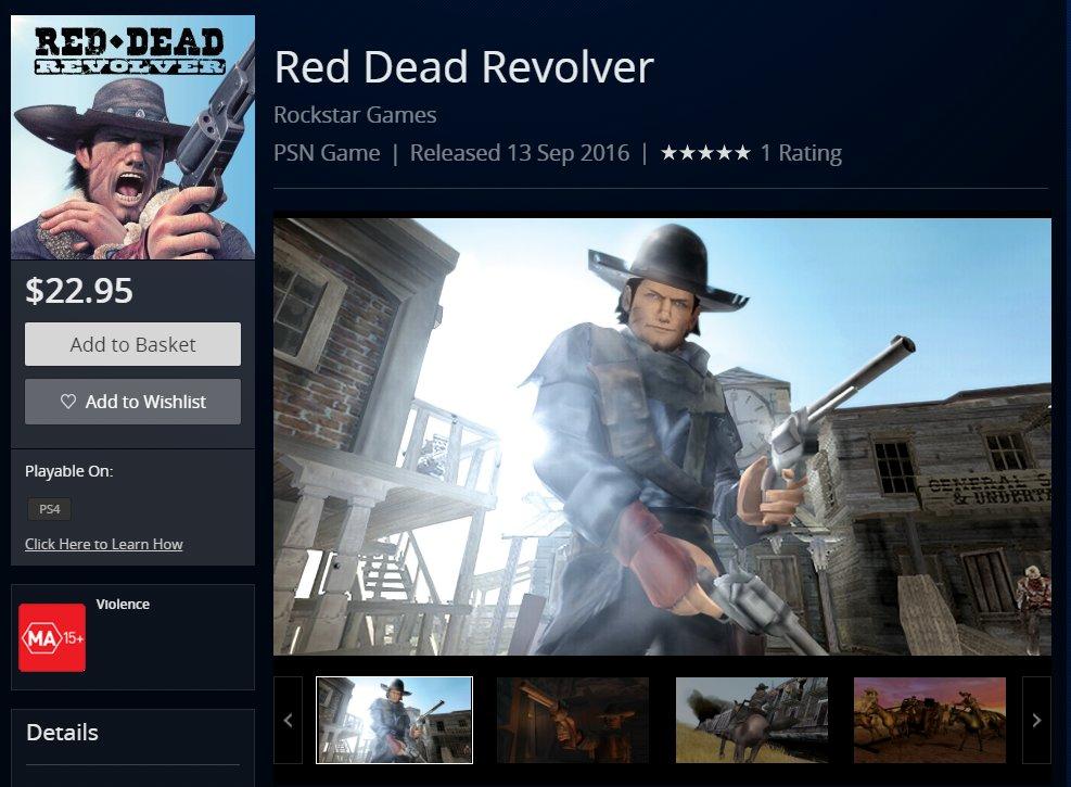 red dead revolver ps4