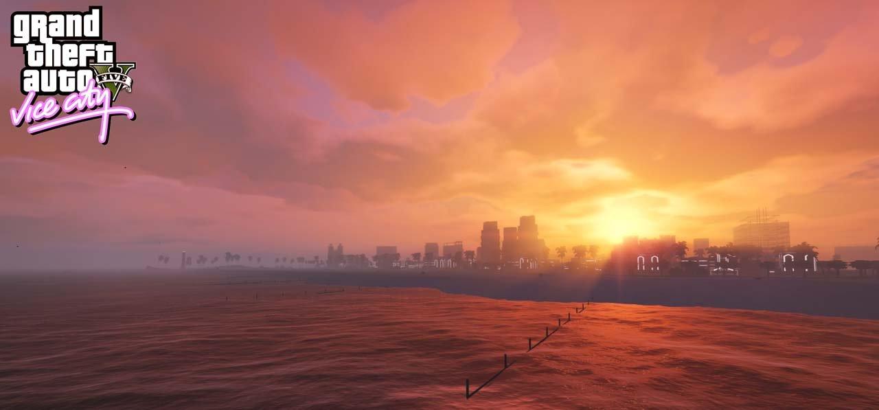 Vice V - Vice City dans GTA V