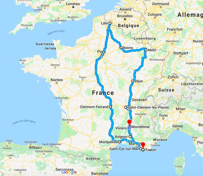 Trajet Tour de France Rockstar Mag'