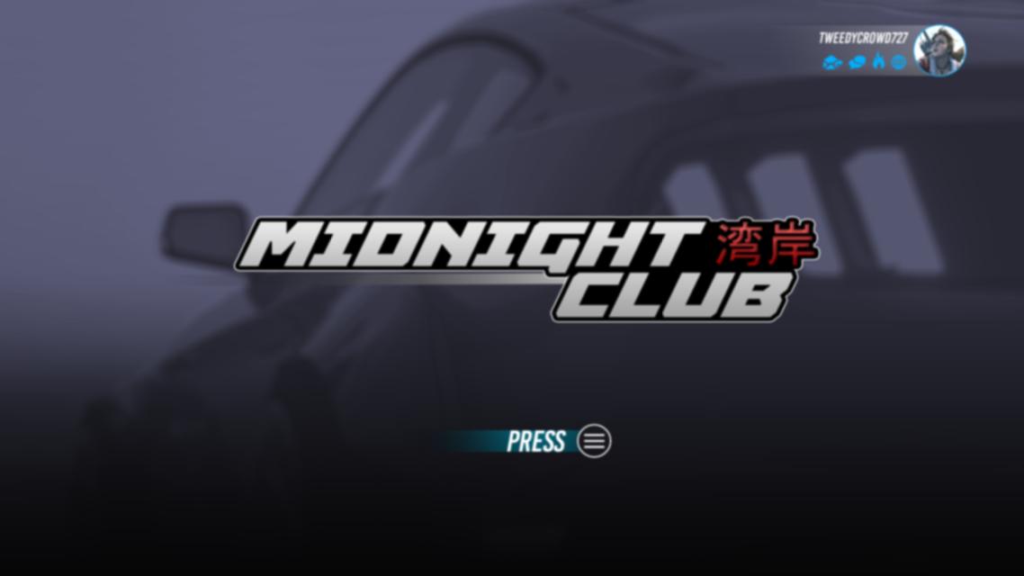 Menu Midnight Club Remastered Xbox One