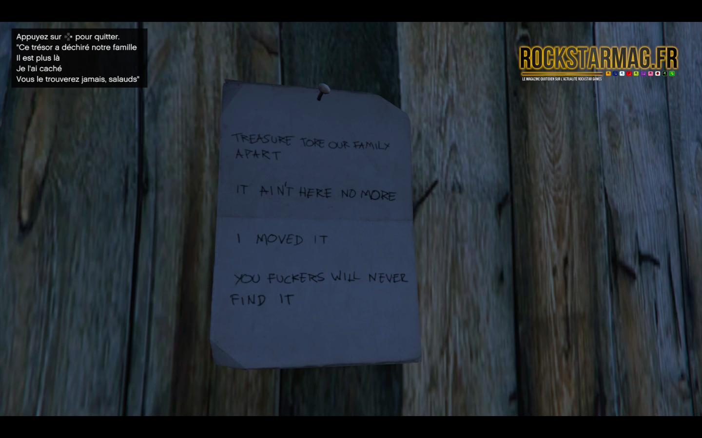 Revolver Double Action - Mystère Red Dead Redemption II dans GTA Online - Etape 02 - Point de Rendez-Vous