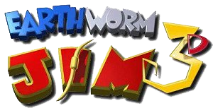 Logo Earthworm Jim 3D