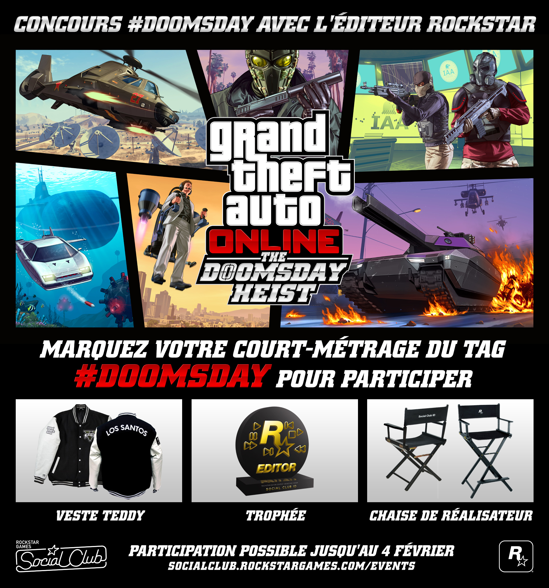 Pric Concours Rockstar Editor Doomsday Heist