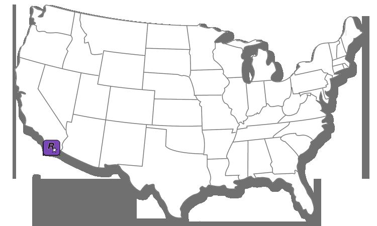 Map Rockstar San Diego