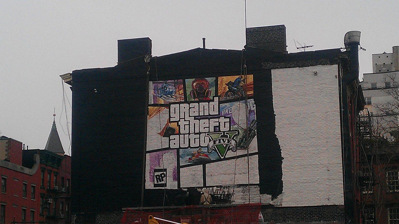 Jaquette GTA V Mur New York