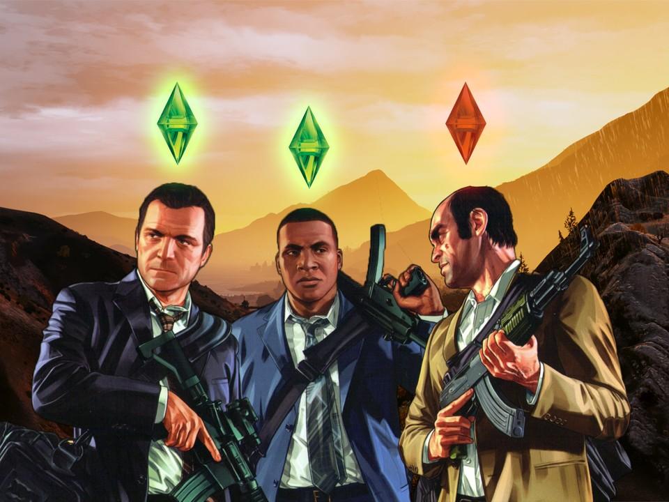 Jouer à Grand Theft Auto V et aux Sims 3 ne rend pas violent !