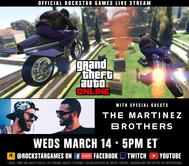 Live Stream Semaine GTA Online - 13-20 mars 2018