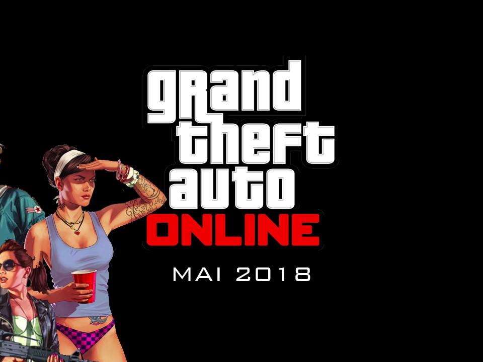 Nouvelle Mise à Jour de GTA Online pour Mai 2018