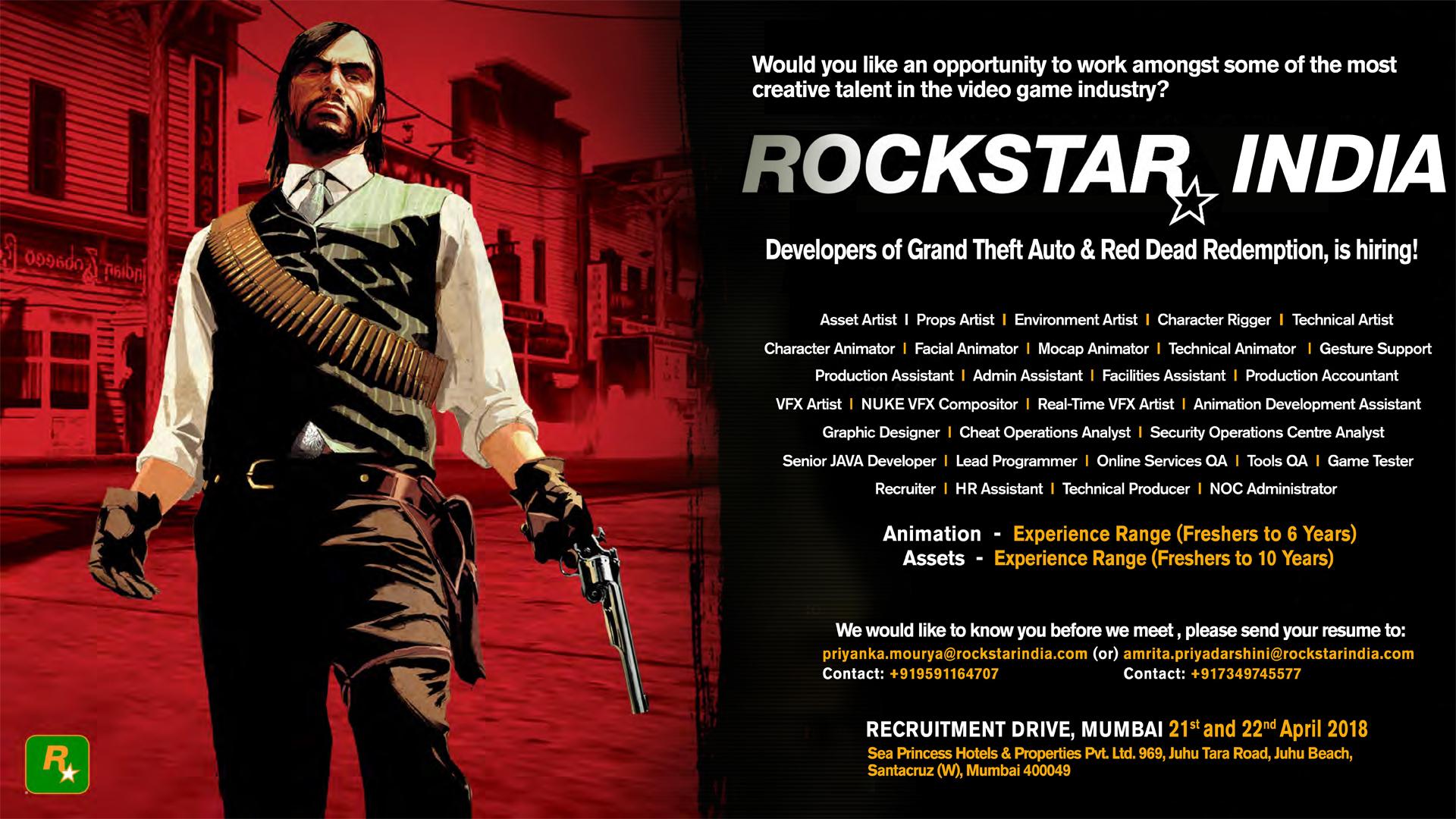 Offres Emplois Rockstar San Diego