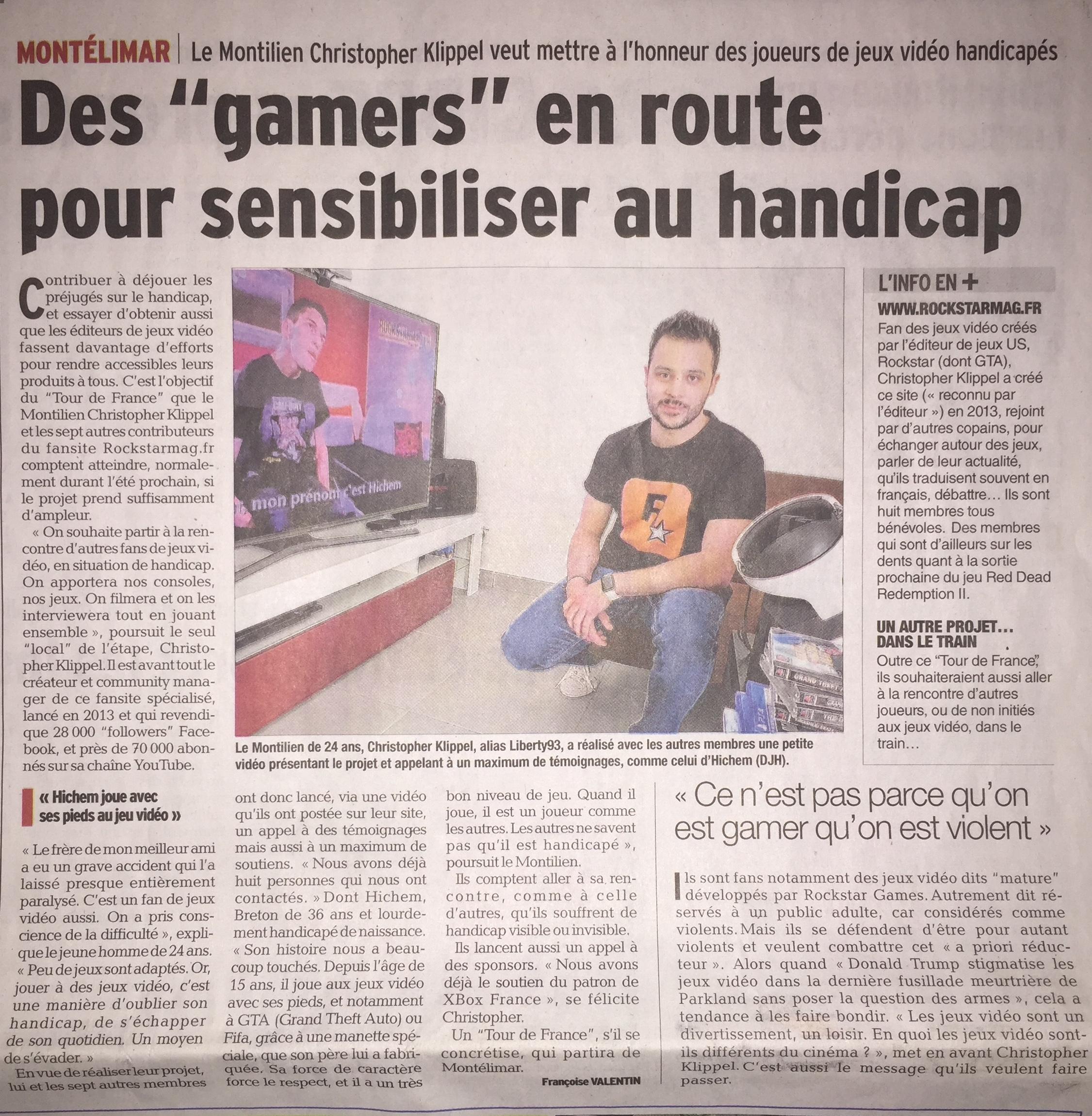 Articles Dauphiné Libéré Rockstar Mag Incroyable Projet - Reconnu par Rockstar Games