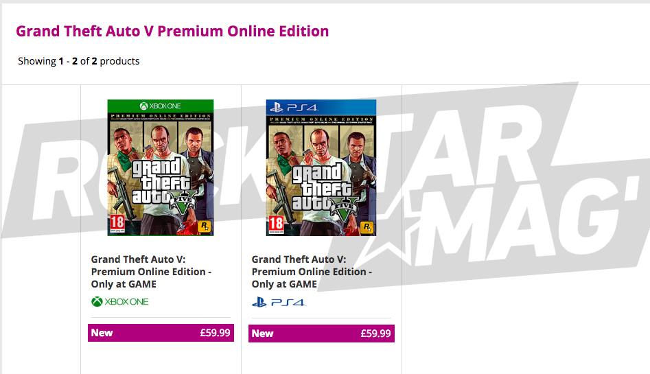 GTA V Premium Online Edition Game