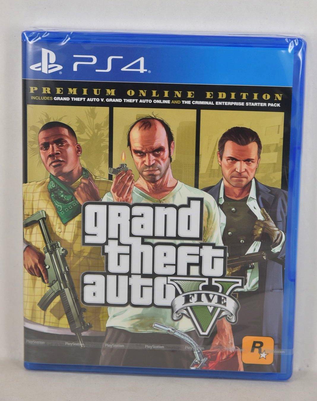 Jaquette GTA V Premium Online Edition PS4