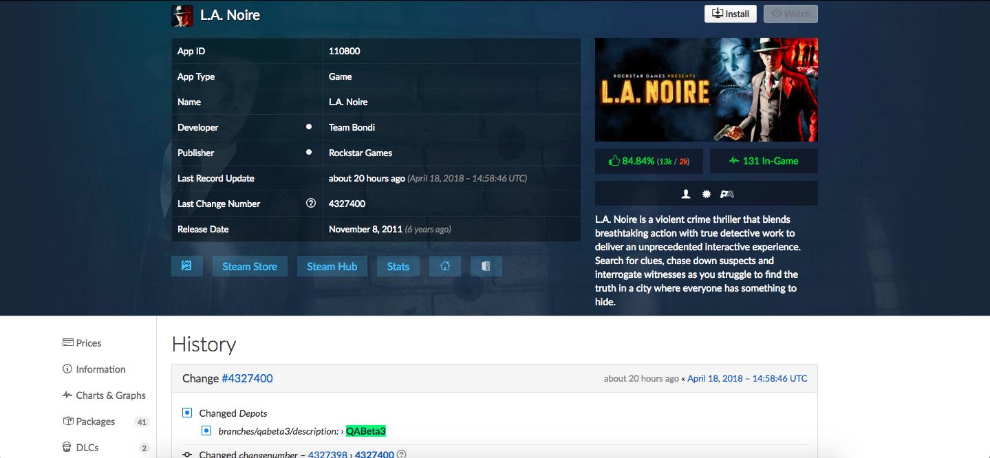 L.A. Noire - QABETA3