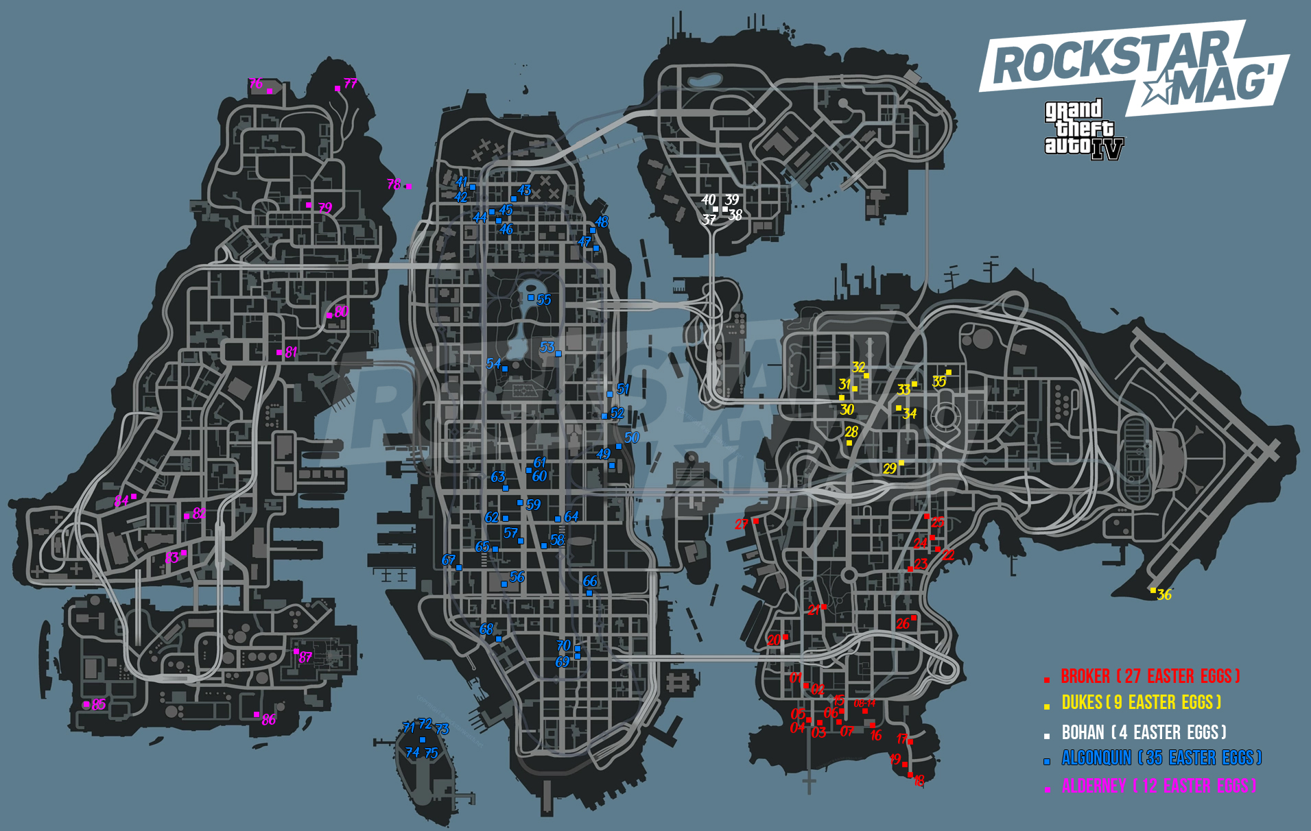 Map Easter Eggs GTA IV GTA 4 Grand Theft Auto IV