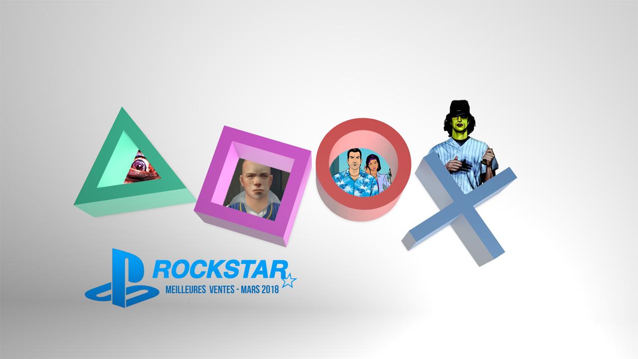 Playstation Store : JEux Rockstar Games Meilleures Ventes