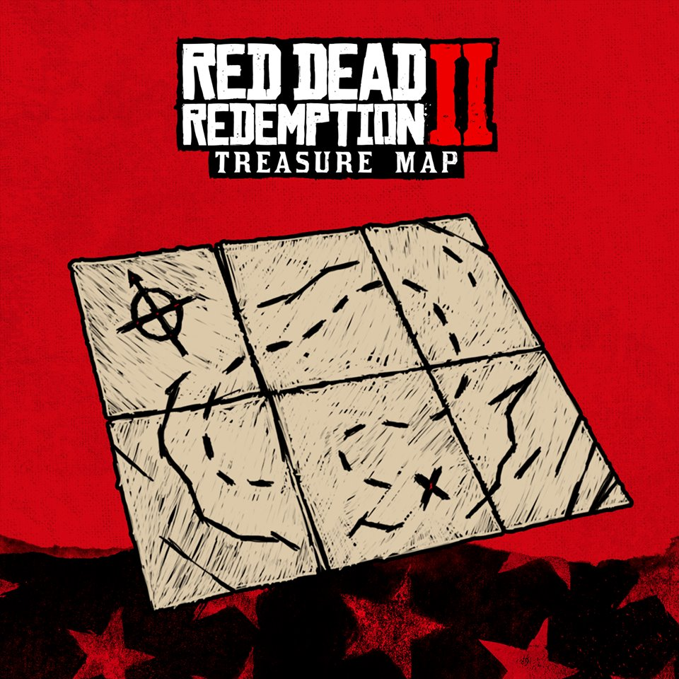 Red Dead Redemption II Carte au Tresor