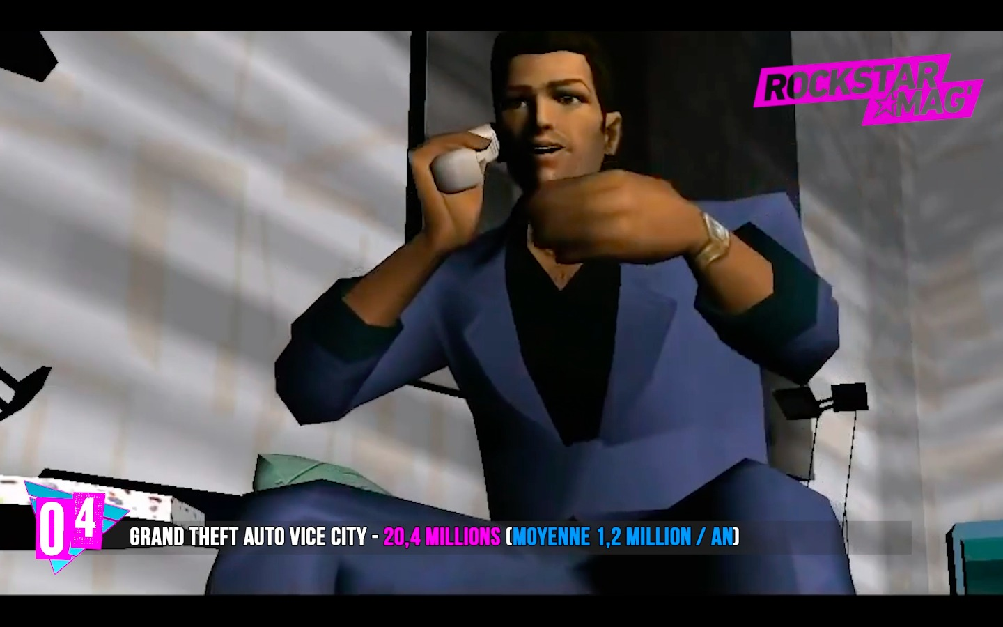 Top 4 Rockstar Games - GTA Vice City avec 20 Millions