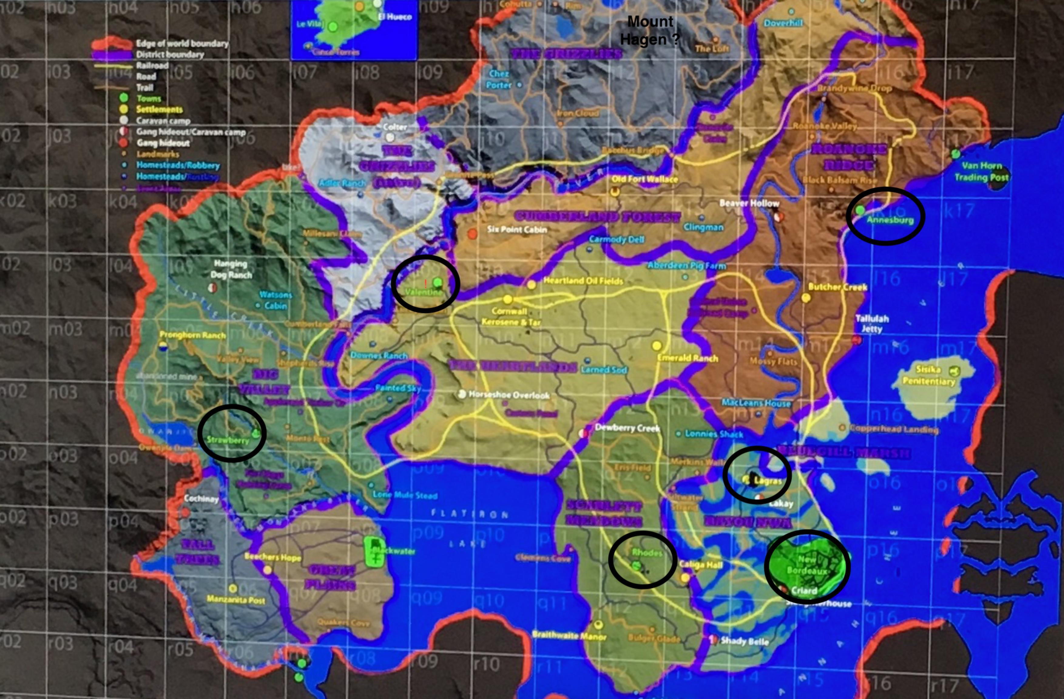 LEAK MAP Red Dead Redemption II 2016