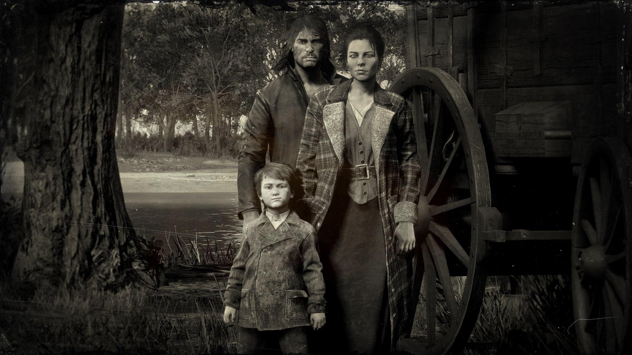 John, Abigail et Jack Marston Red Dead Redemption II