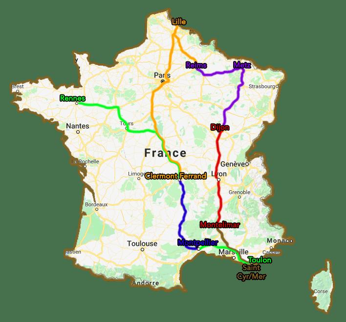 Trajet Tour de France TousGamers 06