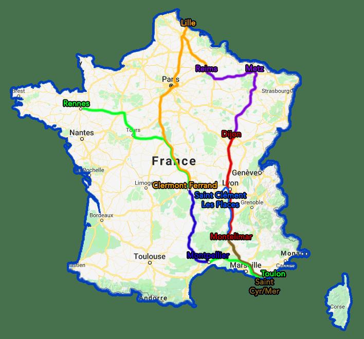Trajet Tour de France TousGamers 07