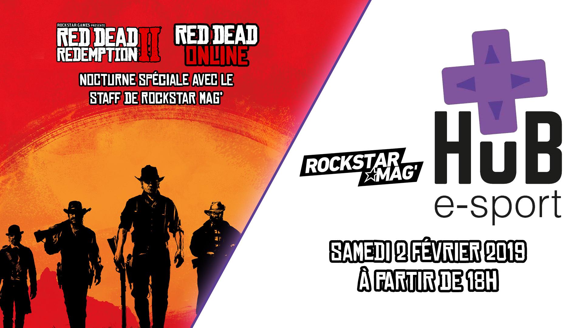 Nocturne Red Dead Redemption II HUB e-Sport Valence Rockstar Mag