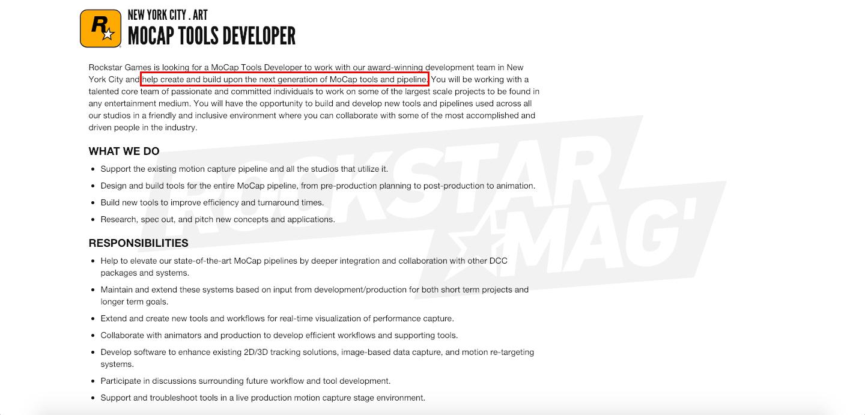 Offre Emploi Rockstar Games Nouvelle Génération