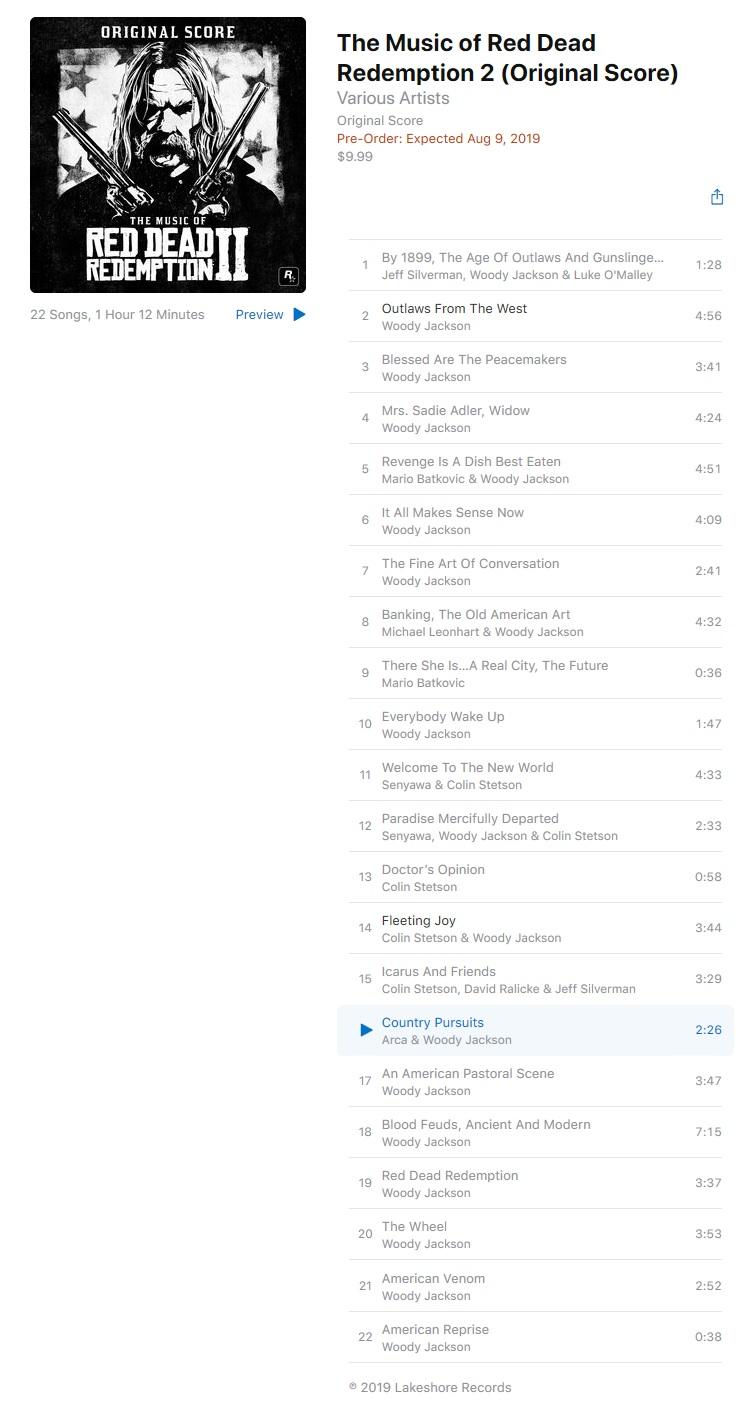 Original Score iTunes