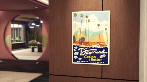 Le poster Diamond Casino & Hôtel est offert dans GTA Online