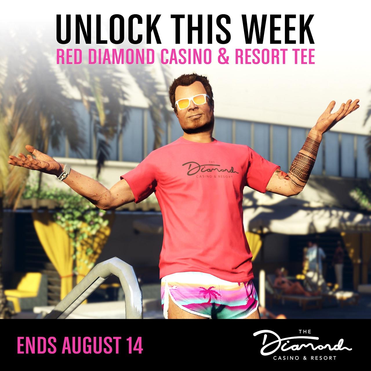 t-shirt Diamond Casino rouge