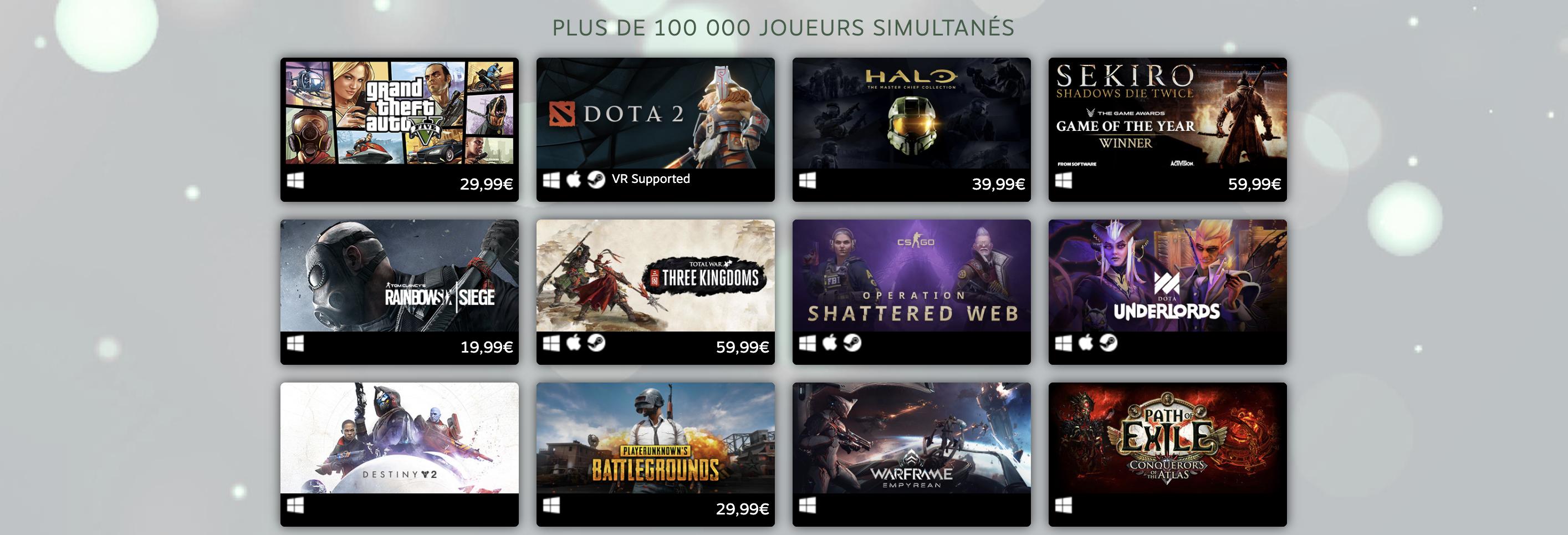 Top Jeux Steam GTA V 100000 joueurs