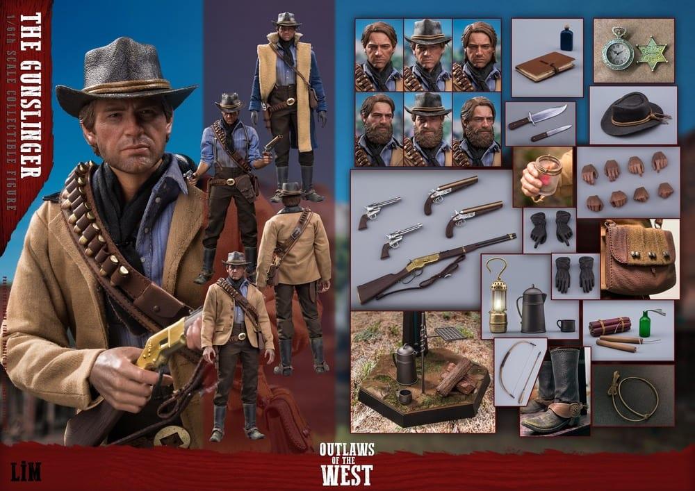 Set d'accessoires et figurine non-officielle Red Dead Redemption II Gunslinger