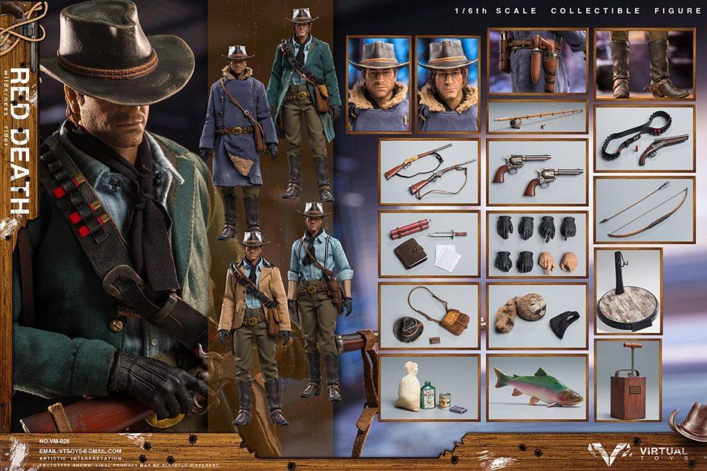 Set d'accessoires et figurine non-officielle Red Dead Redemption II
