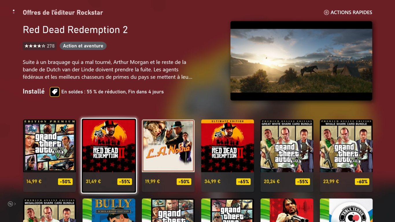 Microsoft Store Reductions Rockstar