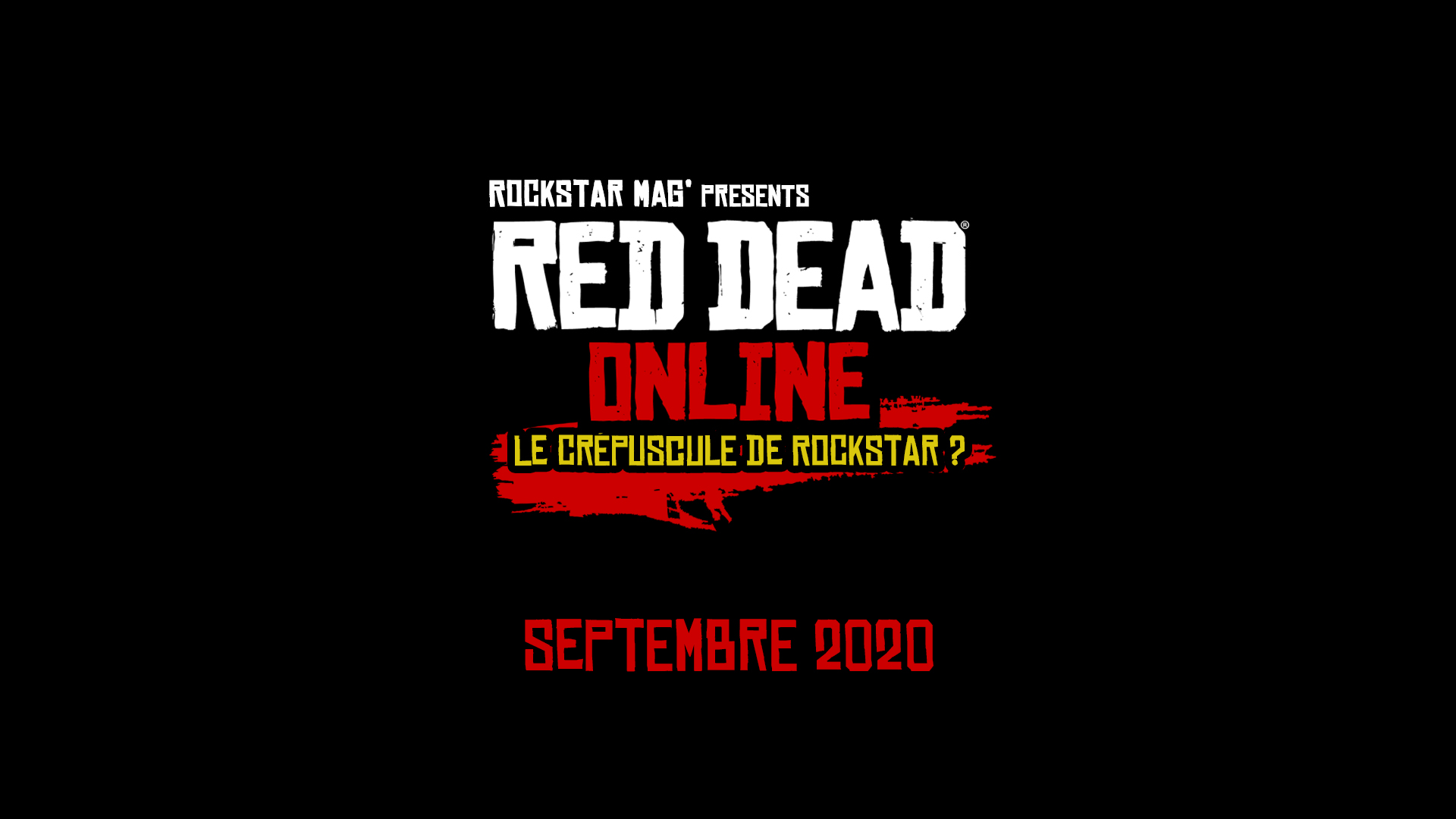 Documentaire Red Dead Online Crépuscule de Rockstar