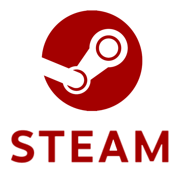 Logo Steam Rouge Carmin
