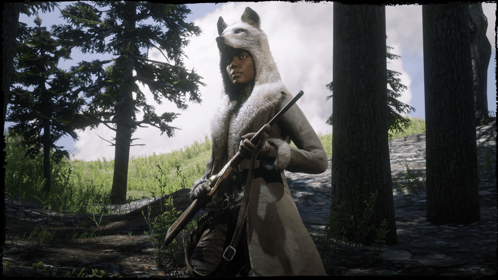 manteau coyote laiteux Red Dead Online