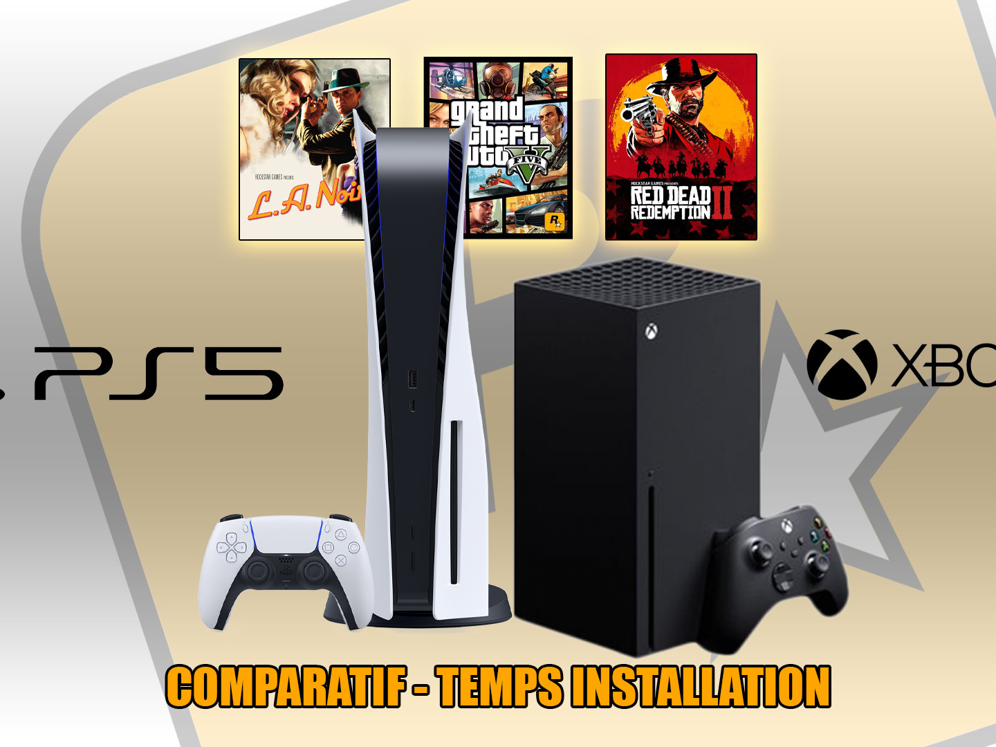 Temps Installation jeux Rockstar Games PS4, PS5, Xbox One, Xbox Series X