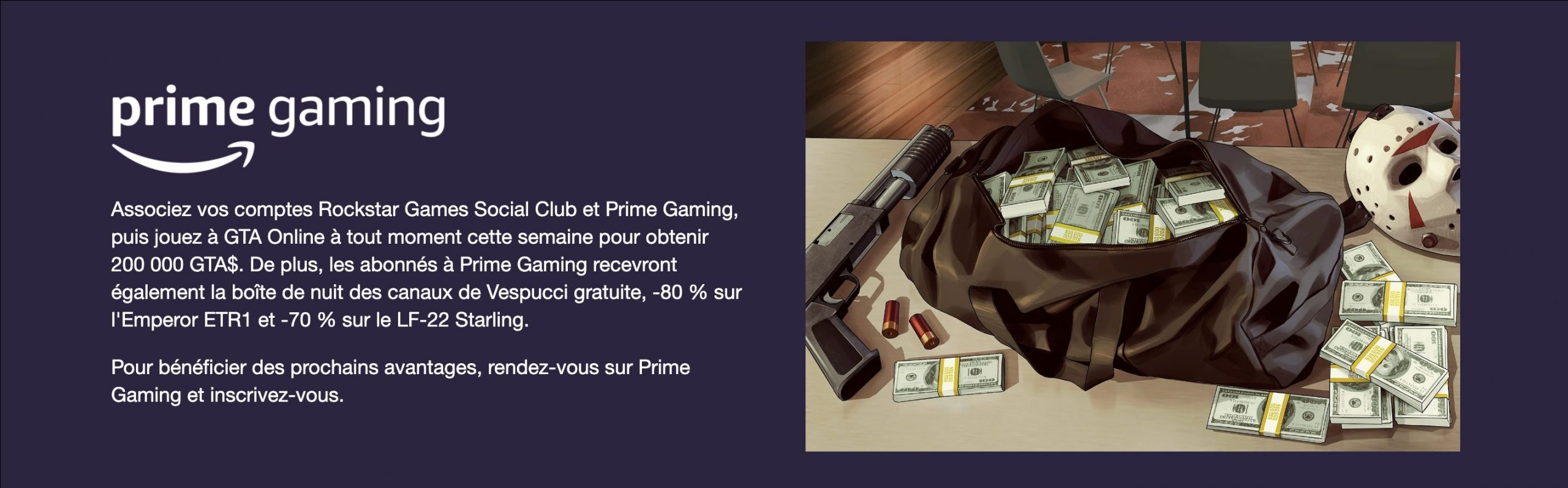Prime Gaming GTA Online 5 Novembre