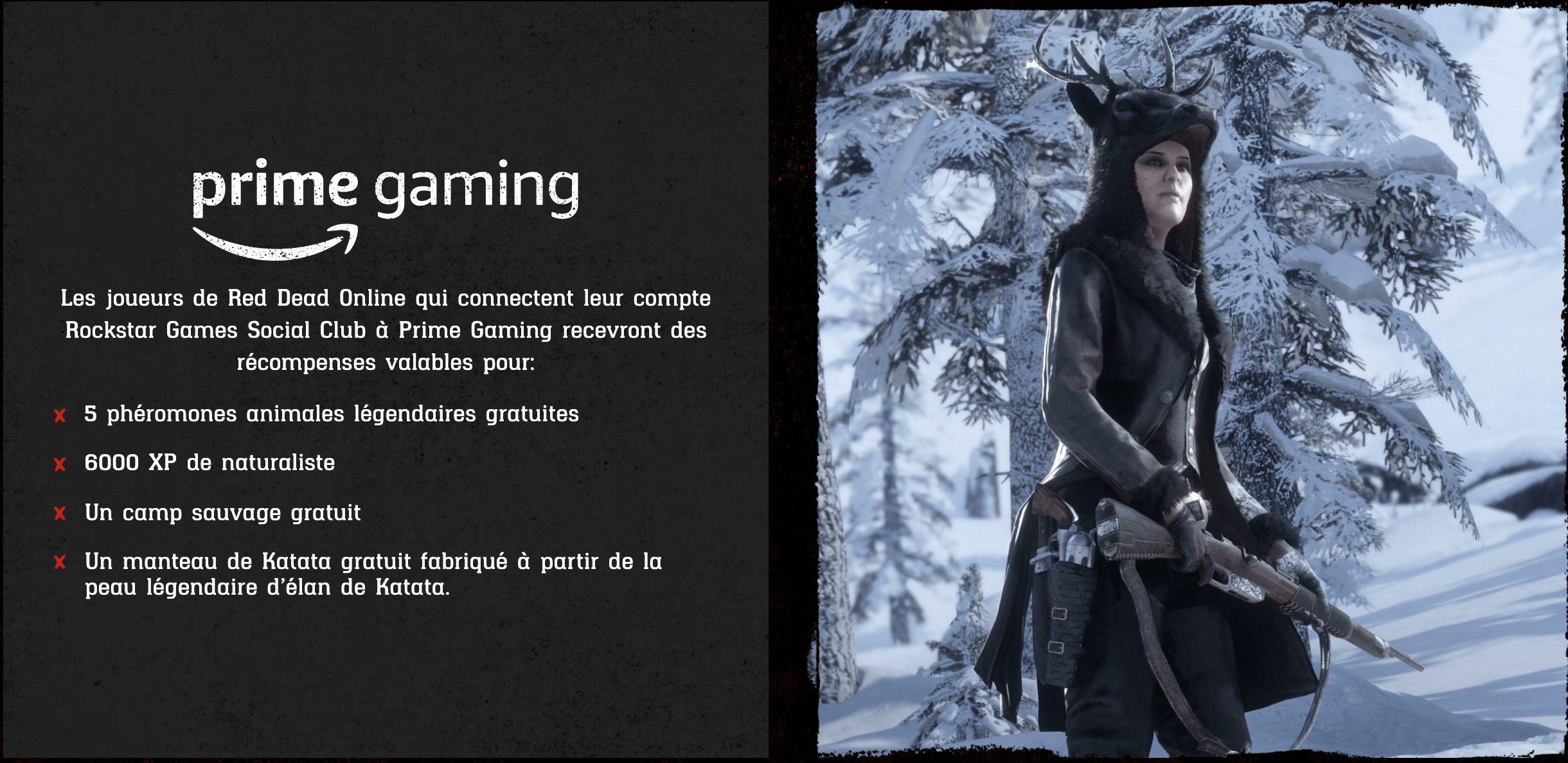 Red Dead Online Prime Gaming 3 Novembre