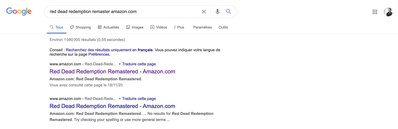 Résultat Recherche Amazon Red Dead Redemption Remaster