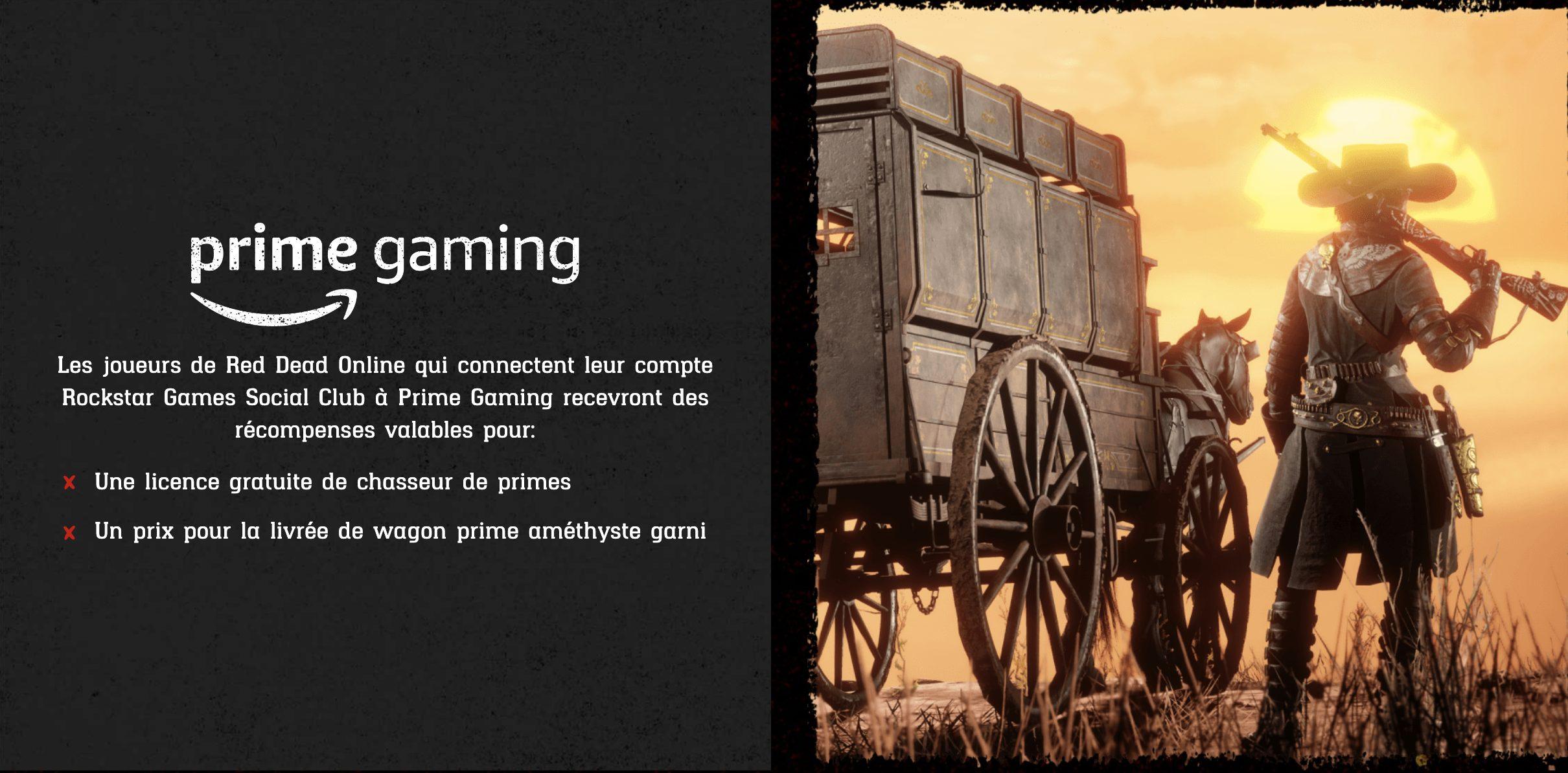 Prime Gaming Red Dead Online Mise à Jour Chasseurs de Primes d'Elite