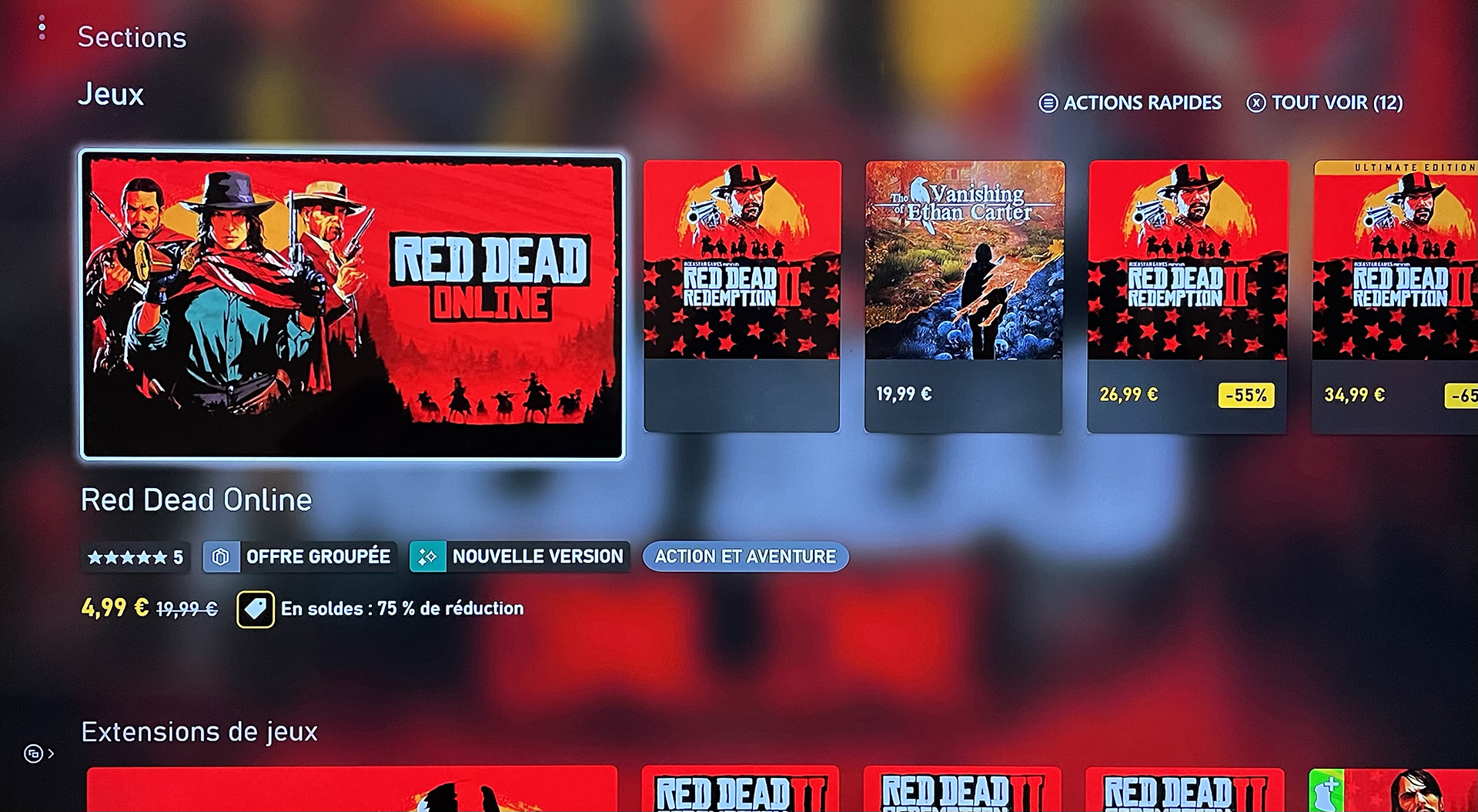 Red Dead Online Xbox Series X