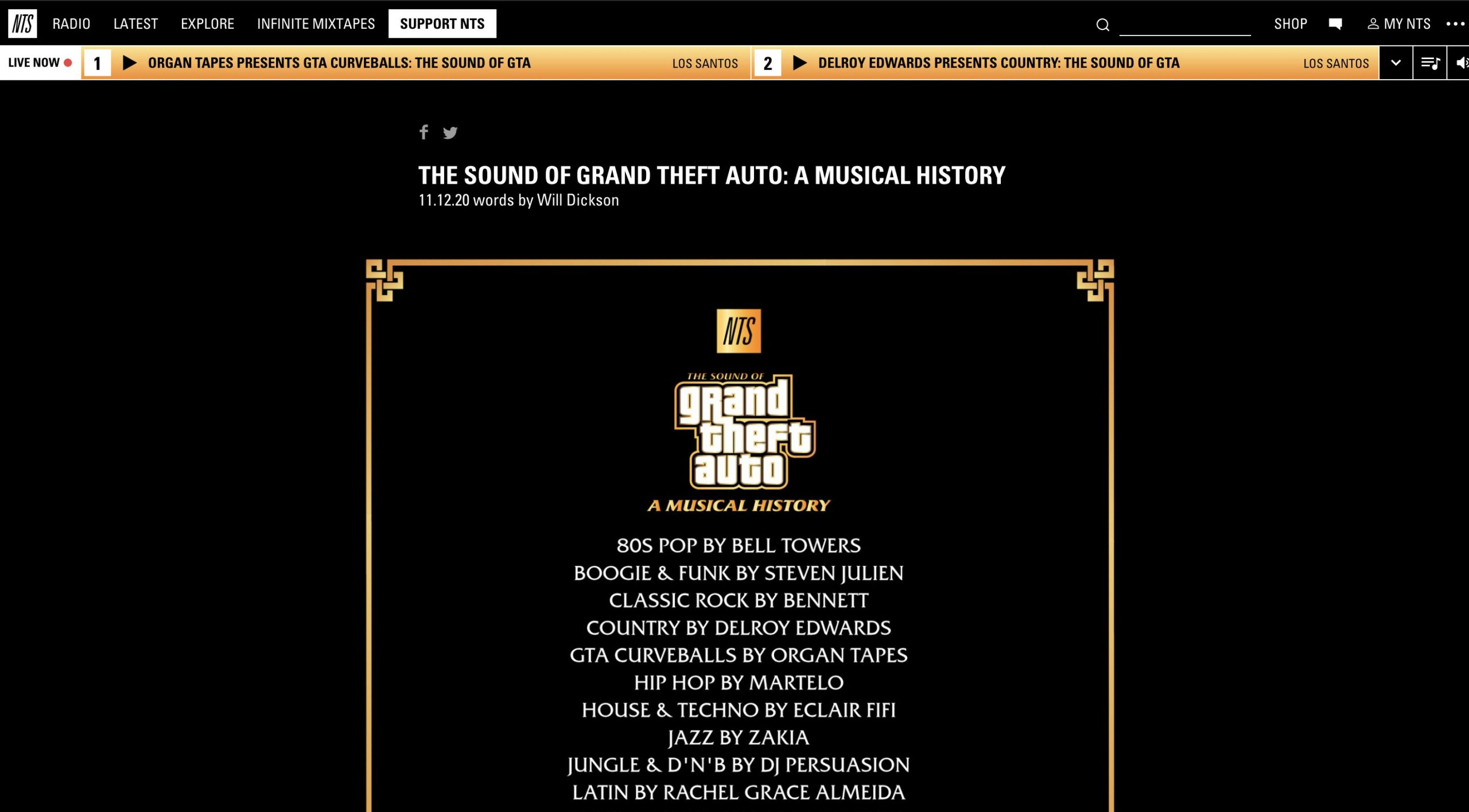 GTA Online - NTS The Sound of GTA