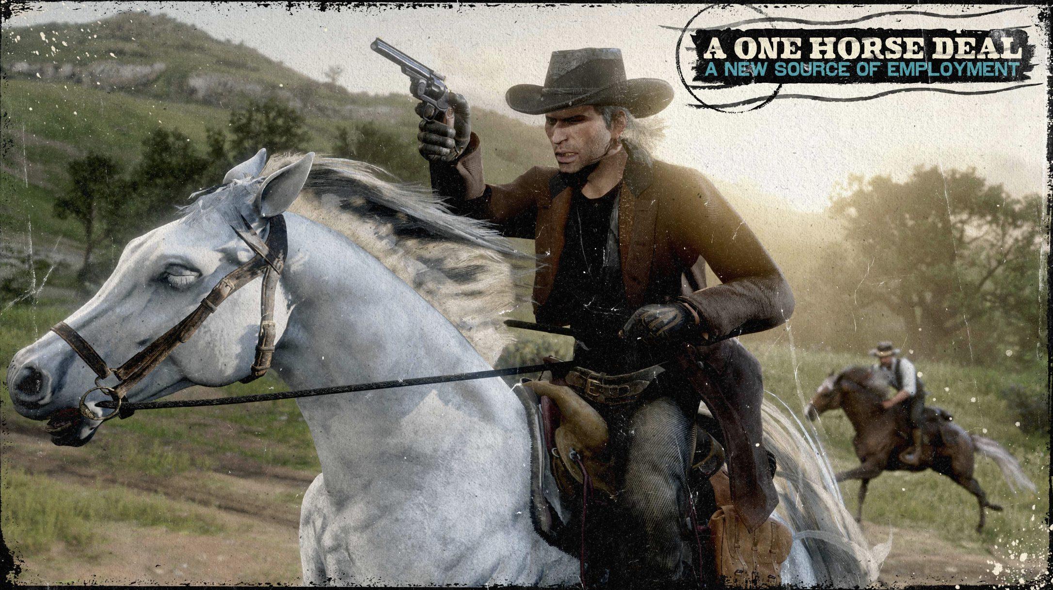 Red Dead Online - Mission Télégramme Cheval Blanc